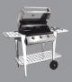 Barbecue Partynox 3 + cappa forno + carrello met. grigio